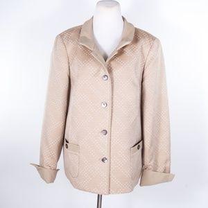 Nina McLemore Tan Woven Blazer Jacket